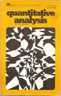 Quantitative Analysis (College Outline)